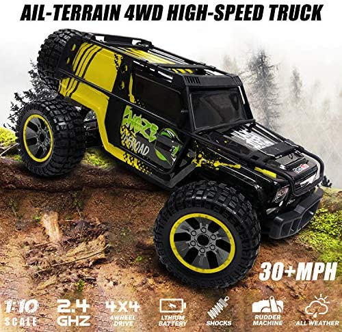 61wnPhEq2qL. AC  - RC Cars 1:10 Scale Large High Speed Remote Control Car for Adults Kids, 48+ kmh 4WD 2.4GHz Off Road Monster Truck Toys, All Terrain Electric Vehicle Boy Gifts with 2 Batteries for 40+ Min Play