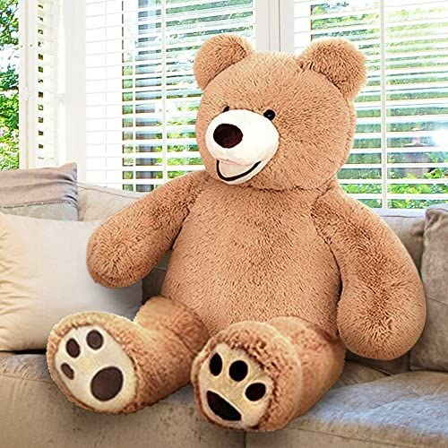61xKdPQXx7L. AC  - ArtCreativity 4 Feet Giant Teddy Bear - Extra Plush and Soft Toy - Jumbo Large Stuffed Animal for Kids and Adults - Huge Plush Bear - Great Gift Idea for Boys and Girls - Gigantic Carnival Prize