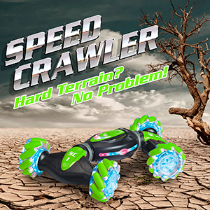 66b30107 3e20 407f 9627 4e5efdc74bd8.  CR0,0,300,300 PT0 SX300 V1    - Contixo SC1 All Terrain Speed Crawler RC Stunt Car, 4WD 2.4GHz Remote Control Car Gesture Sensor Toy Cars, Double Sided Rotating Offroad Vehicle 360° Flip with Lights Music, Kids Toy Cars