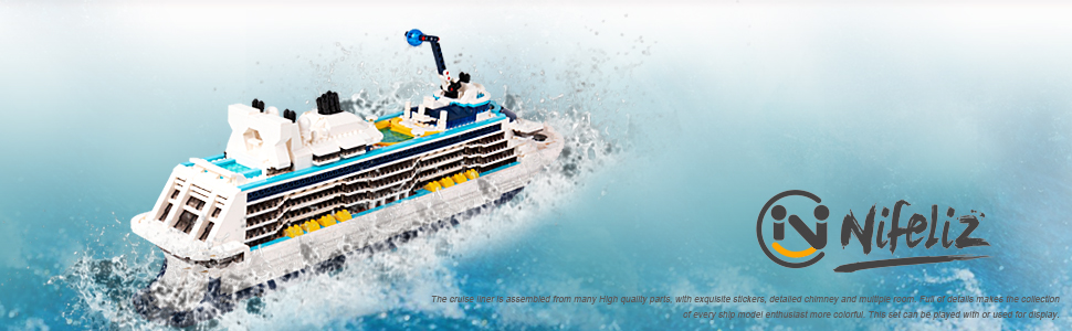 6a722123 e750 4107 9c03 462b2ef1dd08.  CR0,0,970,300 PT0 SX970 V1    - Nifeliz Cruise Liner Model, Toy Boat Building Blocks Kits and Engineering Toy, Construction Set to Build, Model Set and Assembly Toy for Teens(2428 Pcs)