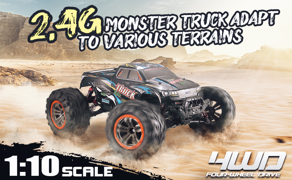 708f0461 00b4 4009 9905 ee378ef3eac1.  CR0,0,970,600 PT0 SX970 V1    - Hosim Large Size 1:10 Scale High Speed 46km/h 4WD 2.4Ghz Remote Control Truck 9125,Radio Controlled Off-Road RC Car Electronic Monster Truck R/C RTR Hobby Grade Cross-Country Car (Blue)