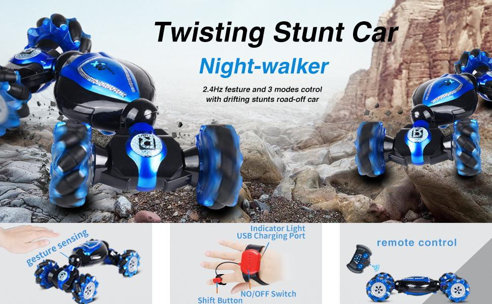 71bf0a1f 7594 4b1b a346 3631b099a1b4.  CR0,0,970,600 PT0 SX970 V1    - RC Stunt Car,1:12 Large RC Drift Car, 4WD 2.4G Gesture Sensing Control Double Sided Rotating Remote Control Car, 360° Flips Twisted Off Road RC Car with 2 Batteries, KB KAIBO Crawler RC Cars for Boys