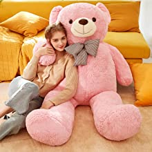 752e7e4d 4523 4e71 85fd 7fc044e0b373.  CR0,0,2976,2976 PT0 SX220 V1    - IKASA Giant Teddy Bear Plush Toy Stuffed Animals (Pink, 59 inches)