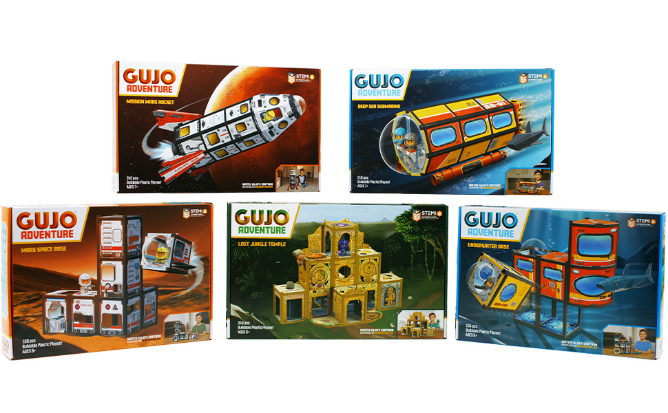8d6c8daa 2336 430f b5bb ddbddce50f16.  CR0,0,970,600 PT0 SX970 V1    - GUJO Adventure Mars Mission Rocket, Kids STEM Building Toys Set (2.5 ft. Tall) Space Toy Rocket Ship - STEM Learning Toy for Boys & Girls Ages 7-11+ Great Gift for Kids (240+ Pieces)