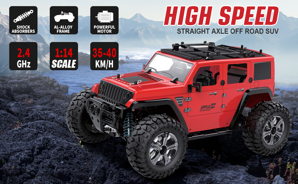 8f3fe9c0 f624 4d27 a7ad dd2b34b01c63.  CR0,0,970,600 PT0 SX970 V1    - Remote Control Car, 1:14 Scale RC Cars Off-Road 4WD Electric Rock Crawler Monster Vehicle Truck with Rechargeable Batteries for Boys Kids Teens and Adults