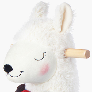 91131637 3dc3 4511 acdf 92deba460c1a.  CR0,0,300,300 PT0 SX300 V1    - labebe - Baby Rocking Horse Wooden, Plush Stuffed Rocking Animals White, Kid Ride on Toys for 1-3 Years Old, Llama Rocking Horse for Girl&Boy, Toddler/Infant Rocker for Nursery, Kid Riding Toys/Horse