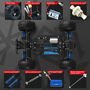 92a2b3fa 7ef3 4b51 853c 54deca1a43d2.  CR0,0,300,300 PT0 SX300 V1    - SZJJX RC Cars 40+ KM/H High Speed Remote Control Car 4WD RC Monster Truck for Adults, All Terrain Off Road Toy Truck with Extra Shell 2 Batteries, 40+ Min Play Car Gifts for Kids
