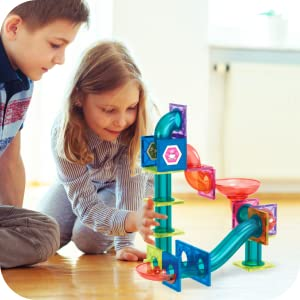 950aa9b0 c3e2 48b2 9e5e 3e6b0b0862e0.  CR0,0,600,600 PT0 SX300 V1    - Magnetic Marble Run Building Set - 191 Piece - 3D Magnetic Tiles Ball Track -Building Kit Fun and Educational Toy STEAM Learning and Creativity Gift for Boys and Girls Ages 3 4 5 6 7 8 Years Old