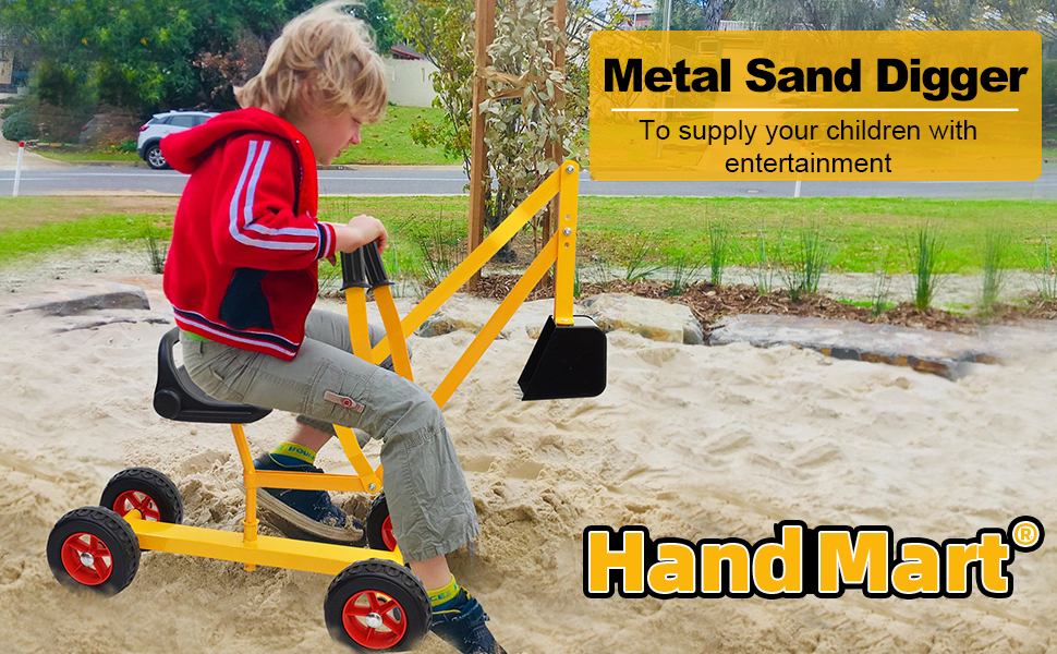 a83ccd50 7094 4019 bd8d 1de1c307cca9.  CR0,0,970,600 PT0 SX970 V1    - Hand-Mart Ride On Sand Digger with Wheels, Sandbox for Kids, Play Toy Excavator Crane with 360° Rotatable Seat for Sand, Snow and Dirt, Heavy Duty Steel Digging Toys for Boys Girls Outdoor