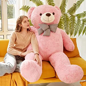b0735219 023e 4ff0 9638 9e8b6f023396.  CR0,0,2958,2958 PT0 SX300 V1    - IKASA Giant Teddy Bear Plush Toy Stuffed Animals (Pink, 59 inches)