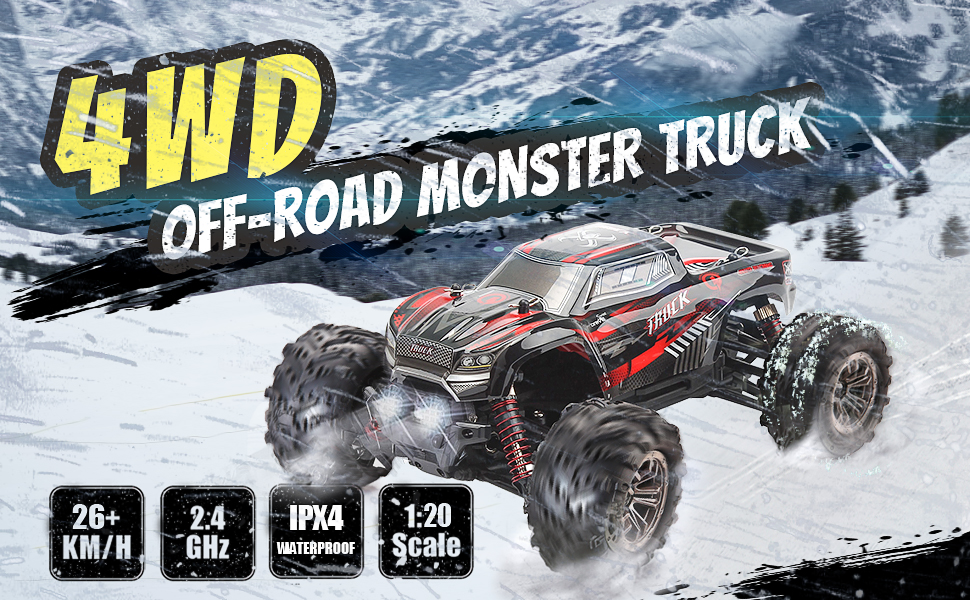 b68d0159 2127 4b23 b2a5 fc5ac35a7fed.  CR0,0,970,600 PT0 SX970 V1    - LUKAT Remote Control Car, 1:20 Off Road RC Racing Car 26+ Km/h High Speed Electric Monster 4x4 Waterproof Toy Vehicle Truck 2.4Ghz Radio Controlled Car Gift for Adults and Kids, Hobbyist Grade