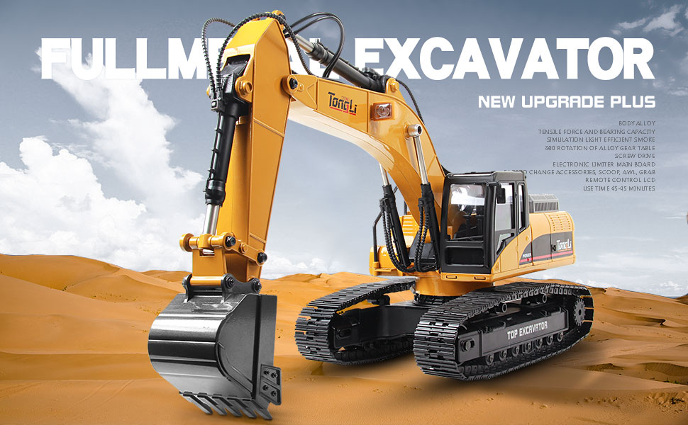 d1cc18b3 46a6 43a7 904f 9c0886d4aff9.  CR0,0,970,600 PT0 SX970 V1    - TongLi 1580 1:14 Scale All Metal RC Excavator Toy for Adults Remote Control Digger Construction Trucks 2.4Ghz Powerful Upgraded V4 with New Motherboard