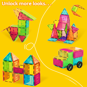 de4d9e44 b692 45b3 9032 0b7db31a06bb.  - HOMOFY Kids Magnet Tiles Toys 2021 New Upgrade 120Pcs 3D Magnetic Building Blocks Magnetic Tiles, Inspiration Educational Building Construction Learning Gifts for 3 4 5 6 Year Old Boys Girls
