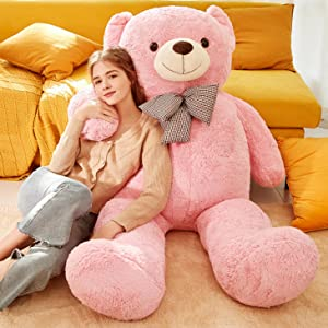e54bd71d 2e8a 4214 9237 b874b406a618.  CR0,0,2922,2922 PT0 SX300 V1    - IKASA Giant Teddy Bear Plush Toy Stuffed Animals (Pink, 59 inches)