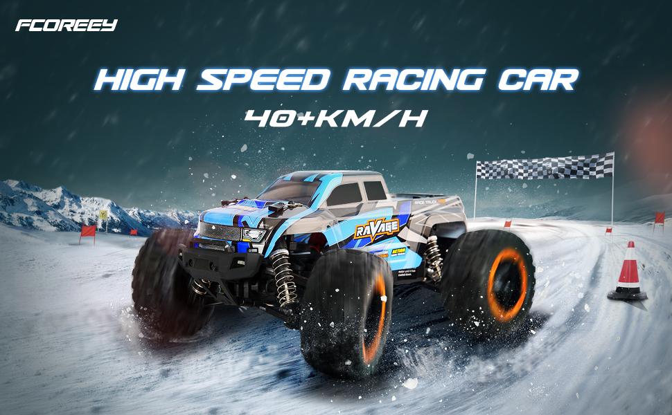 e7701b7b 23a1 4599 92b3 e0ed60aebe6b.  CR0,0,970,600 PT0 SX970 V1    - RC Cars, Fcoreey RC Truck 1:16 Remote Control Car for Boys, 40 Km/h High Speed Racing Car, 2.4 GHz 4x4 Off Road Monster Truck, Electric Vehicle with LEDs, Hobby Car Toy Gift for Adults Kids Girl