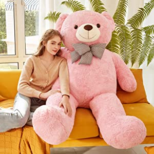 f2962a54 7a71 43a3 b7ea 6b778538372e.  CR0,0,3084,3084 PT0 SX300 V1    - IKASA Giant Teddy Bear Plush Toy Stuffed Animals (Pink, 59 inches)