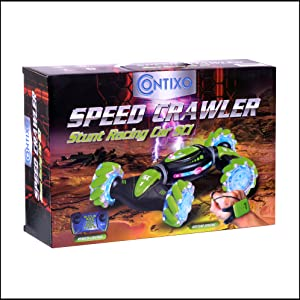 f4957209 05b1 48ab 8726 c2881e5ca5e0.  CR4,0,1992,1992 PT0 SX300 V1    - Contixo SC1 All Terrain Speed Crawler RC Stunt Car, 4WD 2.4GHz Remote Control Car Gesture Sensor Toy Cars, Double Sided Rotating Offroad Vehicle 360° Flip with Lights Music, Kids Toy Cars