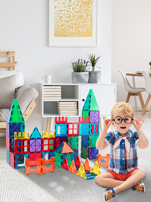 08d4861f 2fc7 4c38 85b9 d1504d5dad5c.  CR0,0,300,400 PT0 SX300 V1    - Magnetic Building Blocks Game Toy, 75 Pcs 3D Magnetic Tiles Construction Playboards Kit Develop Kids Imagination, Inspiration and Fine Motor Skills in Children Educational Toys for Age 3 - 8 Year-Old