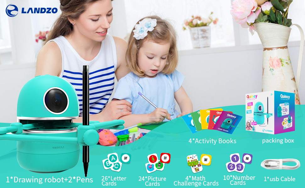 0cce4792 34ce 45b8 a123 7fc85956e8f3.  CR0,0,970,600 PT0 SX970 V1    - LANDZO Robot Toy for Boys Age 4-5 Kids, Automatic Smart Robot Artist, Remote Control Toy with Kids Gifts