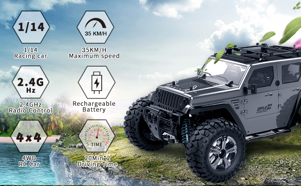 0cfa175c 3d75 4152 9a35 9fa909a10ef9.  CR0,0,970,600 PT0 SX970 V1    - Jeep Rc Cars Off Road 4wd - Roterdon Rc Truck 1/14 Remote Control Car Cross-Country Monster Crawler Kids 35KM/H High Speed 2.4GHz Racing Vehicle Radio Control Toys for Boys Kids