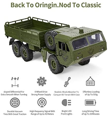 1625939986 419 51opFYsgX3L. AC  - RC Army Cars,Remote Control Car Trunk with Transport 6WD Off Road Racing Trunk 1:16 Scale RC Vehicle All Terrains for Adult Kids