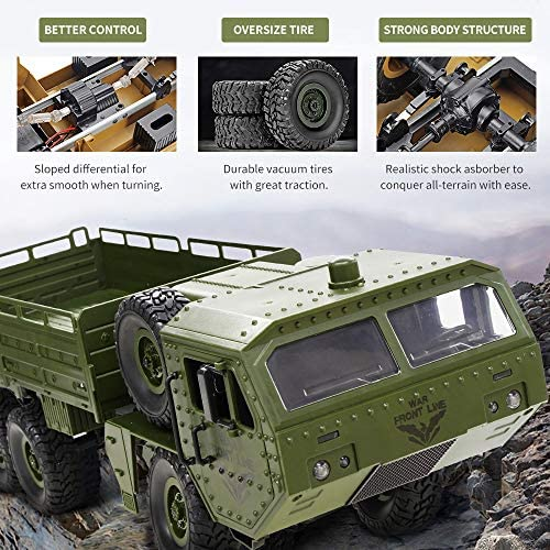 1625939987 414 61AV70VZIPL. AC  - RC Army Cars,Remote Control Car Trunk with Transport 6WD Off Road Racing Trunk 1:16 Scale RC Vehicle All Terrains for Adult Kids