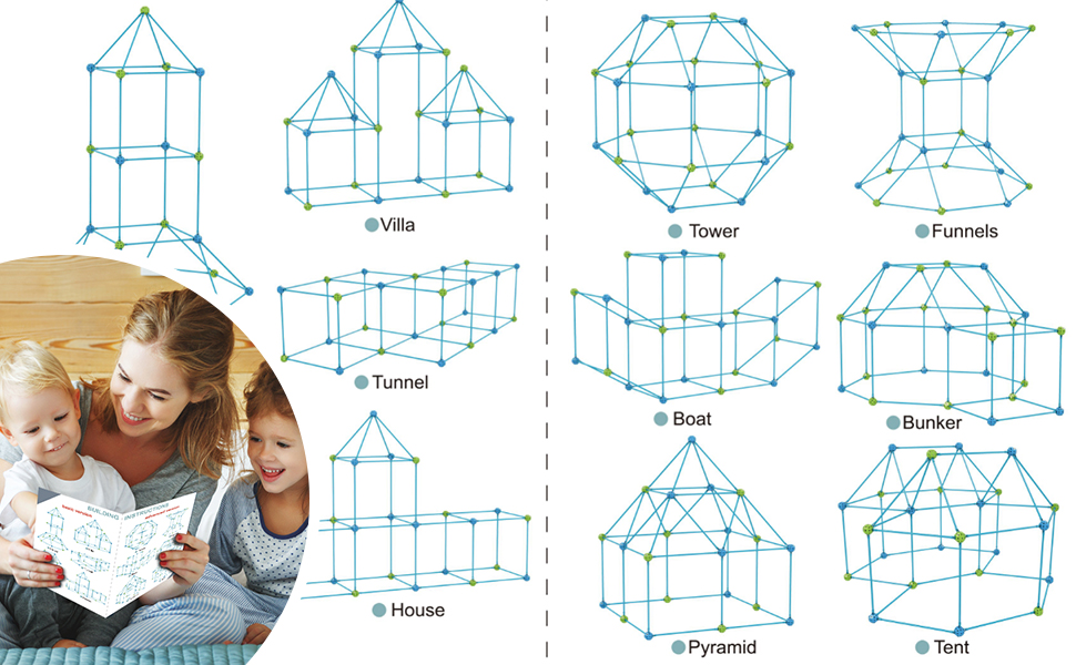 2d283c53 178c 4a6f 921c 09ee3aae4d79.  CR0,0,970,600 PT0 SX970 V1    - IROO Kids Fort Building Kit-150 Pieces DIY Building Castles Tents & Tunnels Toy with Blanket for Boys Girls-5 6 7 8 9 10 11 12 13-Portable Educational Learning Set for Indoor Outdoor Play