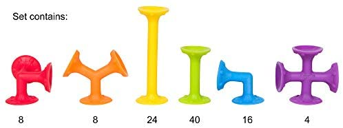 318AhwsTDCL. AC  - Froogly - 100 Piece Suction Toy Construction Set   Educational Building Kit