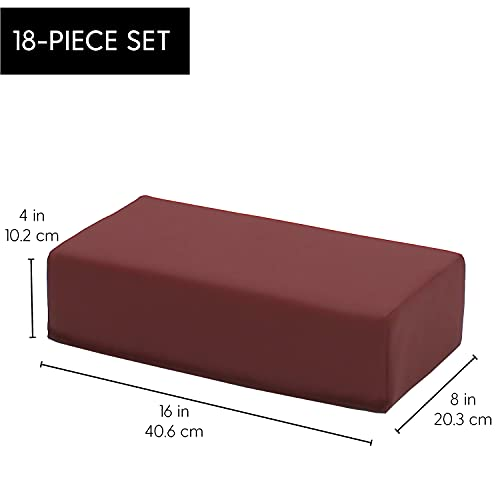31V7mCCXTyS - FDP SoftScape Brick Building Block Set, Stacking Soft Foam Bricks for Toddlers and Kids; Growing Imaginations and Motor Skills (18-Piece) - Burgundy