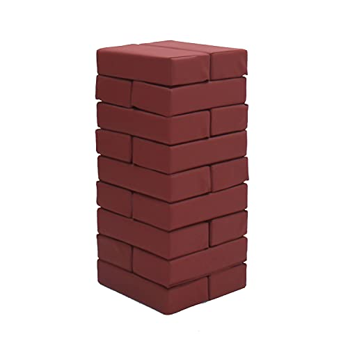 31nSK4lcHiS - FDP SoftScape Brick Building Block Set, Stacking Soft Foam Bricks for Toddlers and Kids; Growing Imaginations and Motor Skills (18-Piece) - Burgundy