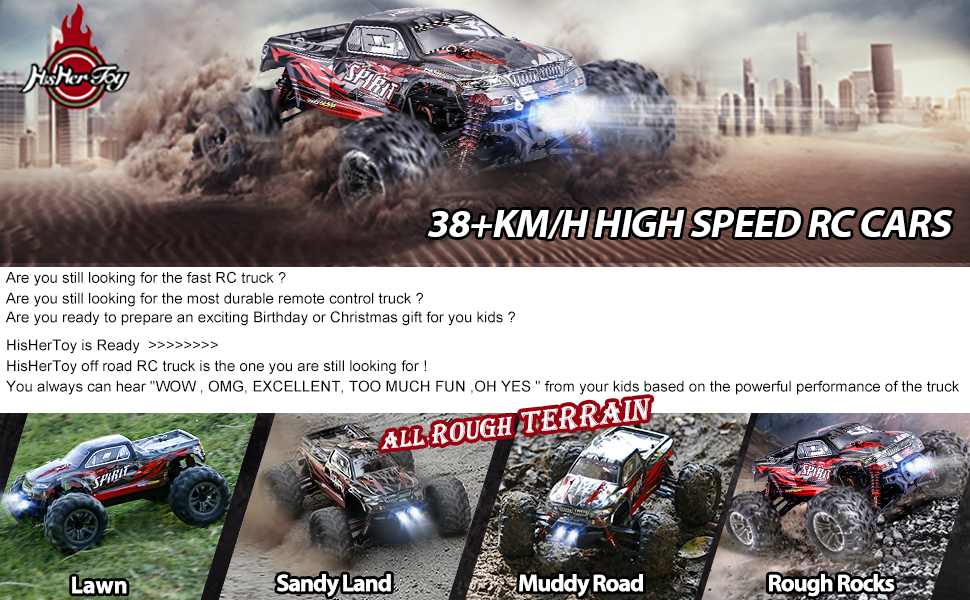3a5b933d 44a4 489c 992a 5e1b94161b26.  CR0,0,970,600 PT0 SX970 V1    - HisHerToy Remote Control Car for Adults Boys Girls Big RC Trucks for Adults IPX4 Waterproof Off Road RC Cars for Adults Kids 1:16 // 36km/h Monster Hobby Cross-Country Buggy with Headlights