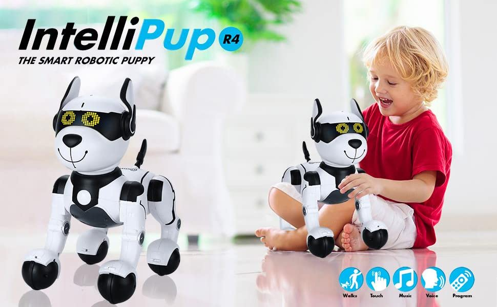 3c3aa09a 4fb3 444a 8861 4774eae8d3a9.  CR0,3,970,600 PT0 SX970 V1    - Contixo R4 IntelliPup Robot Dog, Walking Pet Toy Robots for Kids, Remote Control, Interactive & Smart Dancing Dance, Voice Commands, RC Dog for Gift Toy for Girls & Boys Ages 2,3,4,5,6,7,8,9,10 Years