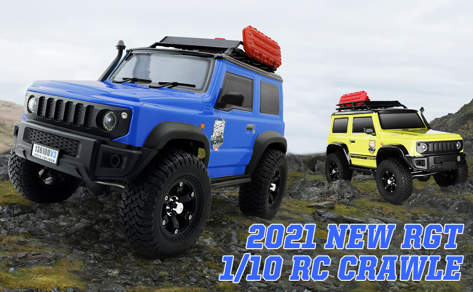 3c85087f 60ef 4c2e b159 33e5401eb82d.  CR0,0,970,600 PT0 SX970 V1    - RGT RC Crawler 1:10 4wd Crawler Off Road Rock Cruiser RC-4 136100V3 4x4 Waterproof Hobby RC Car Toy for Adults (Blue)