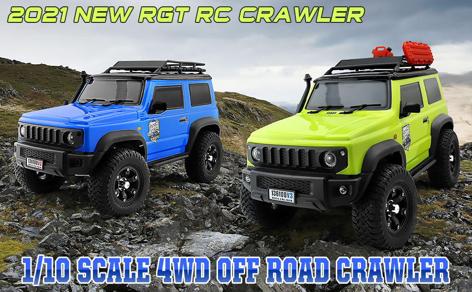 3cb12c87 1040 4387 8870 0a0d36ff99db.  CR0,0,970,600 PT0 SX970 V1    - RGT RC Crawler 1:10 4wd Crawler Off Road Rock Cruiser RC-4 136100V3 4x4 Waterproof Hobby RC Car Toy for Adults (Blue)
