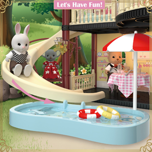 3d791745 701b 48ed a0a9 e1eb4b30a7bf.  CR0,0,300,300 PT0 SX300 V1    - MITCIEN Dollhouse Kit Playset Little Critters Bunny Dolls for Girls with Swimming Pool and Slideside Family Toys for Toddler 3 4 5 6 Year Old Girl
