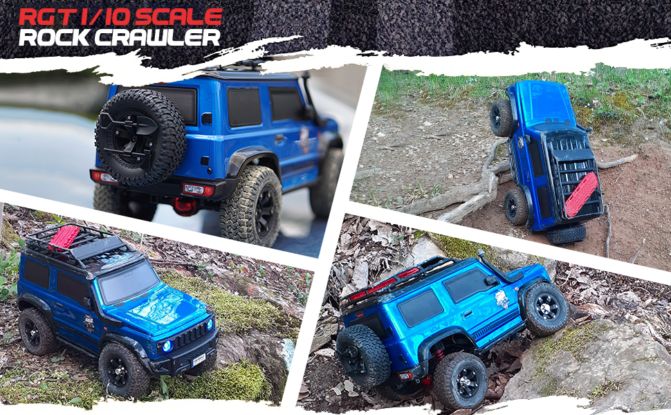 3f689e21 cc90 4650 933b e09d712e07f0.  CR0,0,970,600 PT0 SX970 V1    - RGT RC Crawler 1:10 4wd Crawler Off Road Rock Cruiser RC-4 136100V3 4x4 Waterproof Hobby RC Car Toy for Adults (Blue)