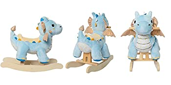 405f3466 4856 4f0a 8e54 01c9a6c6f462.  CR0,25,700,350 PT0 SX350 V1    - labebe - Baby Rocking Horse, Child Blue Winged Dragon Rocker, Toddler Ride on Toys for Kid 1-3 Years Old, Wooden Rocking Chair Animal for Girl&Boy