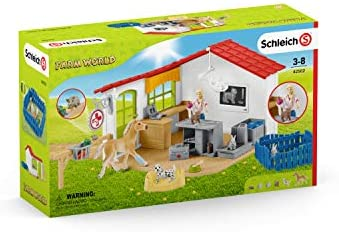 411 NToawrL. AC  - Schleich Farm World 27-piece Vet Practice Playset with Animal Toys for Kids Ages 3-8