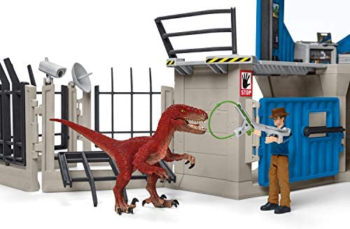 411dI0WtBeL. AC  - SCHLEICH Toy Dinosaur Research Station 33-Piece Playset for Kids Ages 4-12