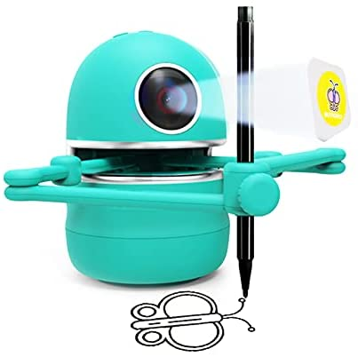 413k3xPCEqS. AC  - LANDZO Robot Toy for Boys Age 4-5 Kids, Automatic Smart Robot Artist, Remote Control Toy with Kids Gifts