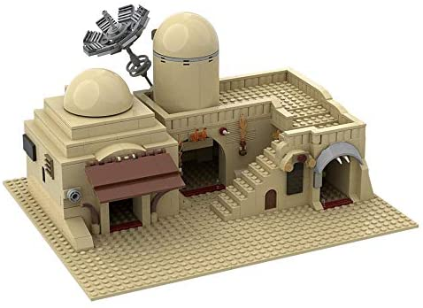 414GhtuQA6L. AC  - Tatooine Double Building (Slums) TAT02 Building Kit for for Boys,Building Blocks MOC Model Toy Building Sets Creative Valentines Day Gifts for Him(636 Pieces) (A)