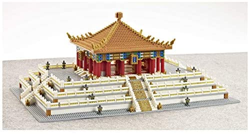 415fFAHTccL. AC  - XSHION World Famous Architecture Micro Diamond Building Blocks Set, 5866Pcs The Hall of Central Harmony Mini Building Bricks Model Engineering Toy Construction Set Toys Gift for Kids Adults