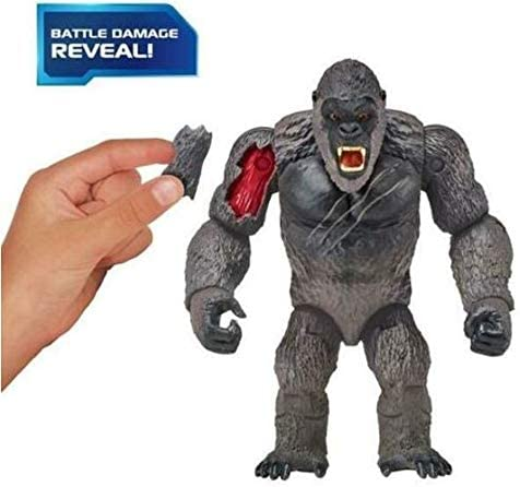 """4172X8r0nEL. AC  - Godzilla vs. Kong 2021 Bundle of 2 Monsterverse Movie Series 6"""" Action Figures Godzilla with Radio Tower and King Kong with Fighter Jet"""