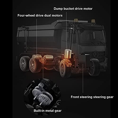 418SgKUG7zS. AC  - 1:20 2.4G Full-Scale Alloy RC Dump Truck Simulation Construction Vehicles Toys,Mobile Phone APP and Remote Control Dual-Mode Control Vehicle for Kids Adults
