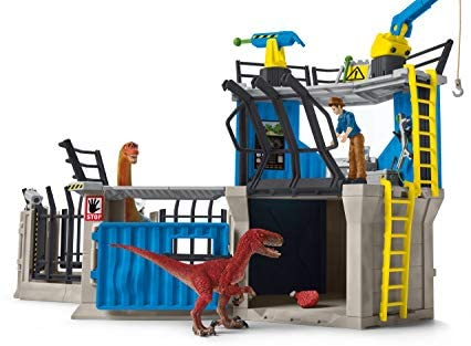 418fEROaT6L. AC  - SCHLEICH Toy Dinosaur Research Station 33-Piece Playset for Kids Ages 4-12