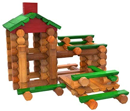 41JZYSqp4zL. AC  - LINCOLN LOGS – Classic Meetinghouse - 117 Parts - Real Wood Logs - Ages 3+ - Collectible Tin - Best Retro Building Gift Set for Boys/Girls – Creative Construction Engineering – Preschool Education Toy