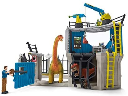 41Jo2srCnaL. AC  - SCHLEICH Toy Dinosaur Research Station 33-Piece Playset for Kids Ages 4-12