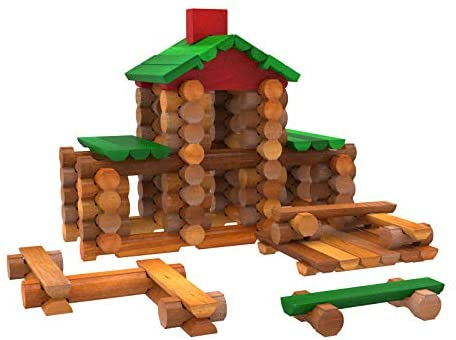 41LarqAcc6L. AC  - LINCOLN LOGS – Classic Meetinghouse - 117 Parts - Real Wood Logs - Ages 3+ - Collectible Tin - Best Retro Building Gift Set for Boys/Girls – Creative Construction Engineering – Preschool Education Toy