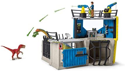 41M2VX+kpOL. AC  - SCHLEICH Toy Dinosaur Research Station 33-Piece Playset for Kids Ages 4-12
