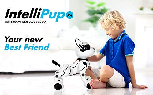 41MZnGVV8fL. AC  - Contixo R4 IntelliPup Robot Dog, Walking Pet Toy Robots for Kids, Remote Control, Interactive & Smart Dancing Dance, Voice Commands, RC Dog for Gift Toy for Girls & Boys Ages 2,3,4,5,6,7,8,9,10 Years